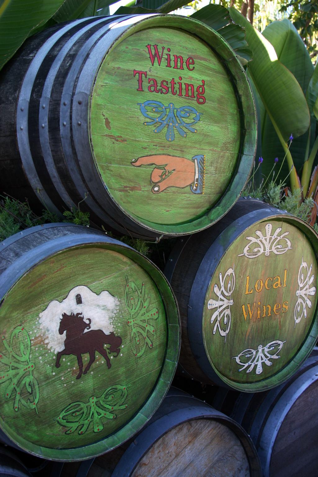 painted barrels