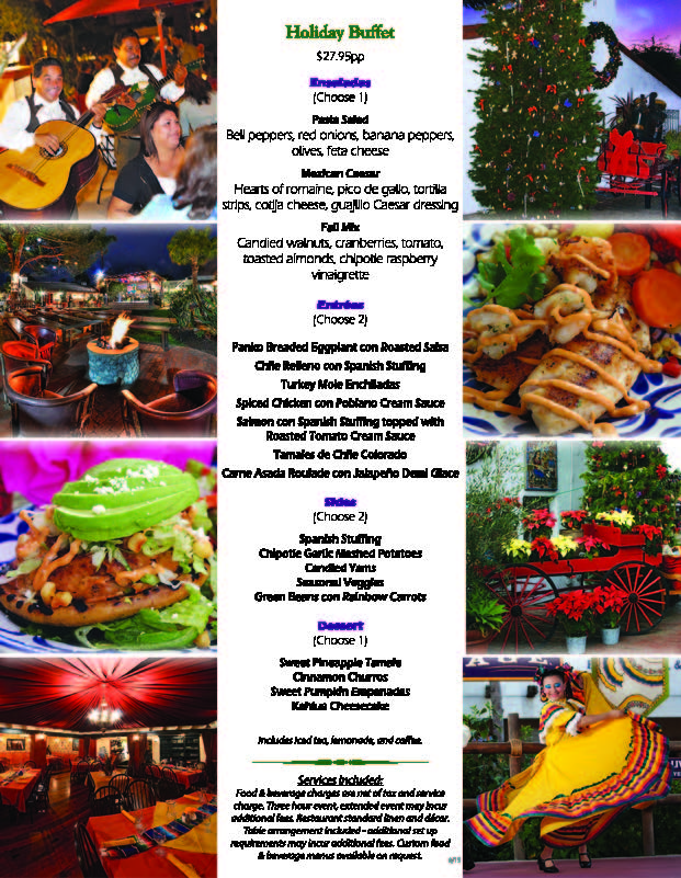 Fiesta de Reyes Holiday Menu 2015